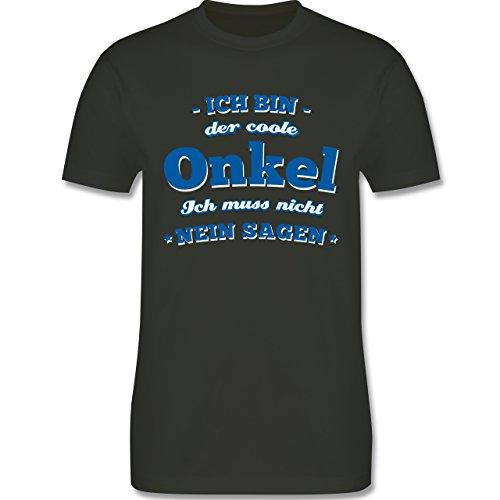 Bruder & Onkel - Ich Bin der Coole Onkel - Herren T-Shirt Rundhals Army Grün