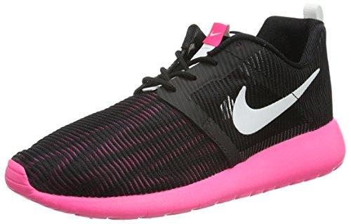 Nike Roshe One Flight Weight (GS), Scarpe da Ginnastica Bambina Nero (Black/White/Hyper Pink)