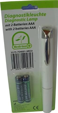 Medi-Inn Penlight / Diagnostic Exam Light Torch + 2 AAA Batteries by Medi-Inn
