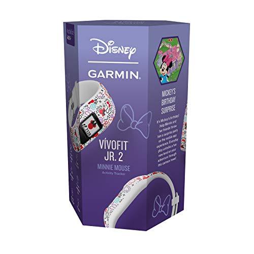 Garmin Vívofit Jr. 2 - Monitor de actividad para niños, Minnie Mouse (Banda ajustable),