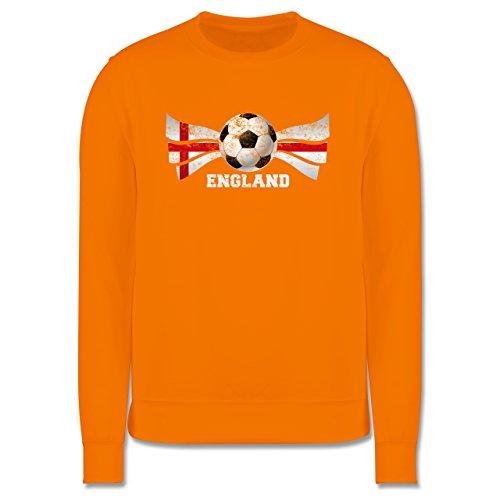 EM 2016 - Frankreich - England Fußball Vintage - Herren Premium Pullover Orange