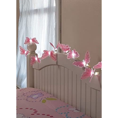 Wonderful 10 Battery Butterfly String Lights With Fiber Optic Magic