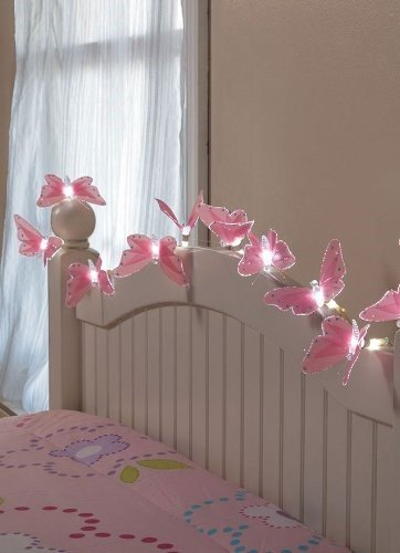 10 Battery Butterfly String Lights with Fiber-Optic Magic
