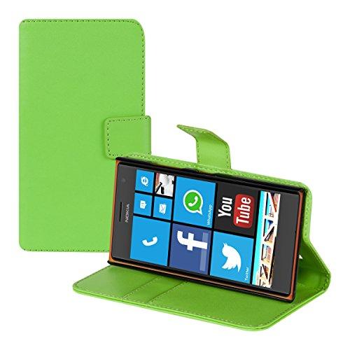 kwmobile Nokia Lumia 730/735 Hülle - Kunstleder Wallet Case für Nokia Lumia 730/735 mit Kartenfächern & Stand