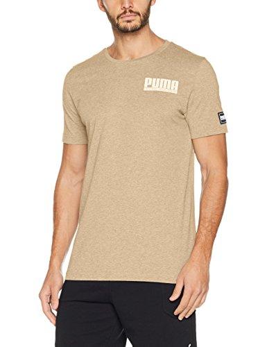 c9307af0a Puma Style Athletics tee Camiseta, Hombre, Marrón (Pebble Heather), L