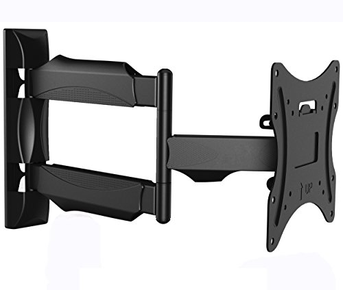 Invision Ultra Slim TV Wall Mount Bracket with 20 Inch Articulating Arm/1.8-Inch Wall Profile Tilt and Swivel for Most 26 - 42 Inch LED LCD Plasma 4K 3D & Curved Screens (A1/HDTV-M)