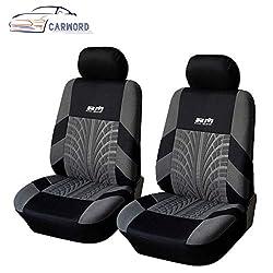 Vordersitzbezüge für den Autositz Universal-Sitzschützende Innenausstattung Waschbarer Airbag kompatibel für Autos, SUVS und LKW