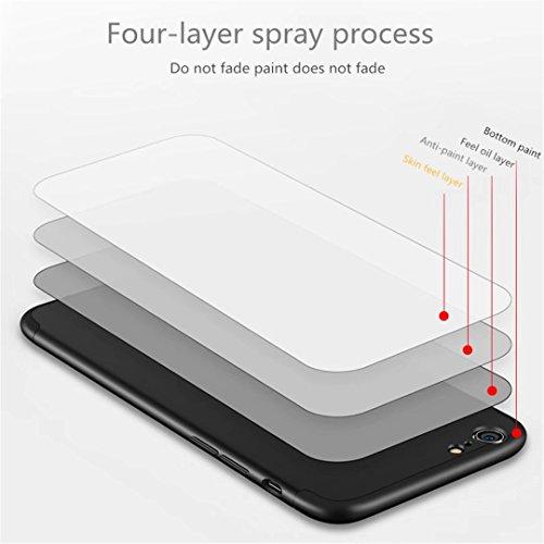 Coque iPhone 6/6S 360 degrés Protection Matte Ultra Slim Cover PC Hard Case Protection du corps Couverture antidéflagrante 360 ° Couverture complète 3 en 1.Non Apple mark.rouge-02 Or rose-02