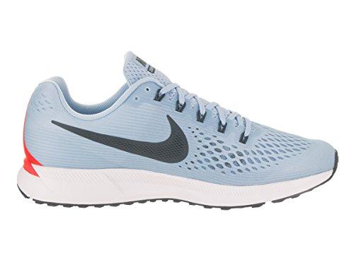 Nike Air Zoom Pegasus 34, Scarpe Running Uomo Blu (Bleuglacé/cramoisibrillant/blanc/renardbleu)