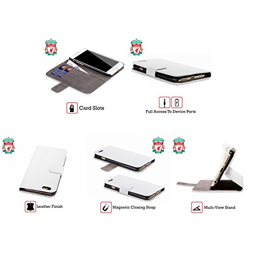 Offizielle Liverpool Football Club Philippe Coutinho Spieler Home Kit 17/18 Gruppe 1 Brieftasche Handyhülle aus Leder für Apple iPhone 5 / 5s / SE Philippe Coutinho