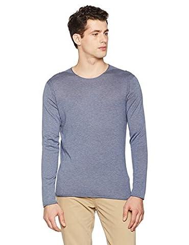 BOSS Orange Herren Straight Leg Pullover 10184572 01, , Gr. Medium (Herstellergröße: M), Blau (Navy 415)