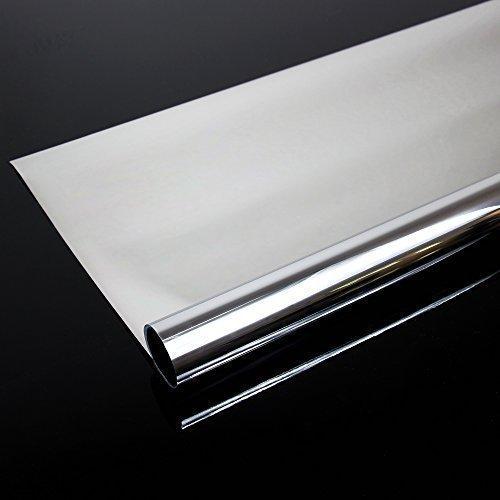300 x 91 cm Spiegelfolie kratzfest Sonnenschutzfolie UV Schutz Sichtschutzfolie 99% UV-Schutz selbstklebend