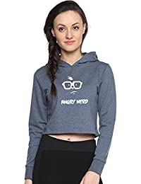 Campus Sutra Printed Full Sleeve Hooded Sweatshirts or Hoodie for Women