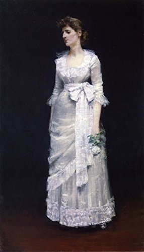 ��Lady in weiß Gewand, 1885–Poster (mittel) (Renaissance Gewand)