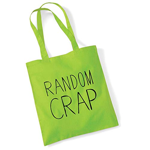 Printed Tote Bag Women's Gift Idea 100% Cotton Random Crap Funny Beach Accessories Womens Gift Idea Canvas Shoulder Bag - Lime Green - Designer-medium-tote -