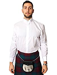 Wing Collar Formal Dress Shirt White