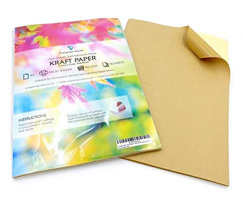 20fogli di carta da pacchi autoadesiva opaca, formato A4, per stampare etichette con indirizzi