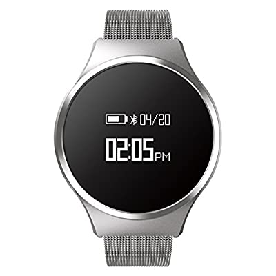 Hombre Casual Moda Inteligente Watch, Podómetro Ritmo cardíaco y monitor de sueño Led Impermeable Botón grande, Pulsera de bluetooth-D de JDSHDKHDKFJDFKL