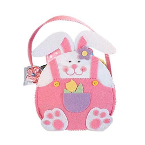 Transer® Ostern-Kaninchen-Süßigkeit-Beutel-Geschenk-Beutel Reizende Kreative Partei-Kostüm-gegenwärtige Dekoration Wiederverwendbare Einkaufstasche-Handtasche, 21X17X7.5 cm (Candy Kostüme Halloween Cotton)