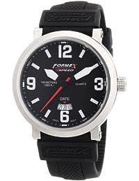 Formex 4 Speed TS725 - Reloj analógico de caballero de cuarzo con correa de silicona negra - sumergible a 100 metros