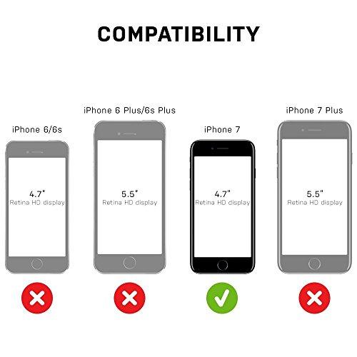 Cover per iPhone 7,Custodia per iPhone 7,Aksuo Ultra Thin Slim Sottile Morbida [Leggera] Trasparente Silicone Gel Gomma TPU Antigraffio Antiscivolo Case Cover per iPhone 7 ( 4.7) - Nero Nero