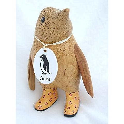 DCUK legno bambino pinguino in luce arancione Wellies con Tiger Paw Prints