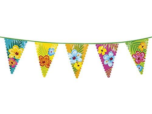 us Party 52501 Girlande Wimpelkette Blumen Wimpelgirlande ()