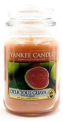 Idea Regalo - Yankee Candle Delicious Guava Classico Signature Barattolo Grande 623 g – Sicuro per Corrispondenza Box