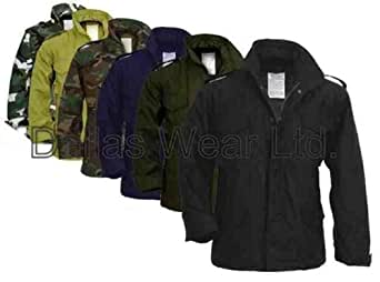 Adults M65 Field Jacket Military Coat with Liner Surplus - Woodland Camo,size -L