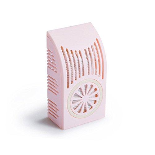 Aubess Lufterfrischer mit Bambus-Kohle, Mini, Geruchsabsorber, für Kühlschrank, Autos, Schränke, Badezimmer und Haustierbereiche, plastik, rose, 13.3*7*4.4cm -