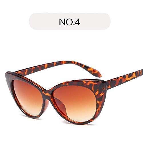 YHEGV Charme Cat Eye Sonnenbrille Frauen klare Linse Vintage Sonnenbrille transparente Kurve Cateye Design Katie Holmes Brillen