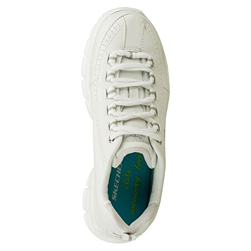 Skechers Synergy - Elite Calibro Walking Sneaker Comfort Shoe - Womens White