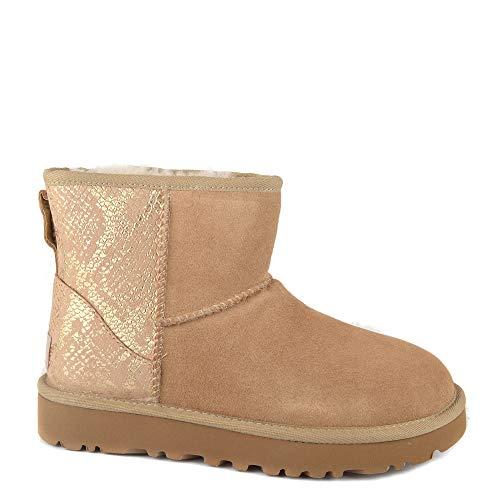 UGG Womans - Boots Classic Mini Metallic Snake - Gold