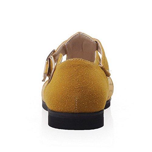 VogueZone009 Damen Mittler Absatz Hoch-Spitze Rein Ziehen auf Stiefel mit Beschlagene Strass, Schwarz, 34