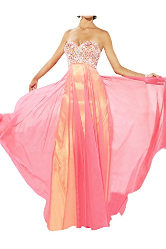 Ivydressing Damen Stilvoll Herzform Steine Festkleid Promkleid Ballkleid Abendkleid Rosa