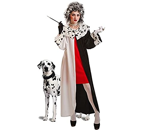 FR-Disfraz para mujer de Cruella Dálmata-FR
