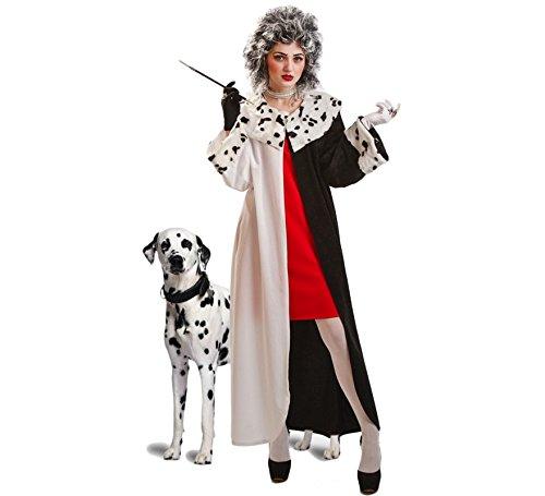 EL REY DEL CARNAVAL, SL Cruella-Mantel-Kostüm für Damen ()