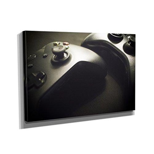 Nerdinger Gamepads - Kunstdruck auf Leinwand (60x40 cm) zum Verschönern Ihrer Wohnung. Verschiedene Formate auf Echtholzrahmen. Höchste Qualität.