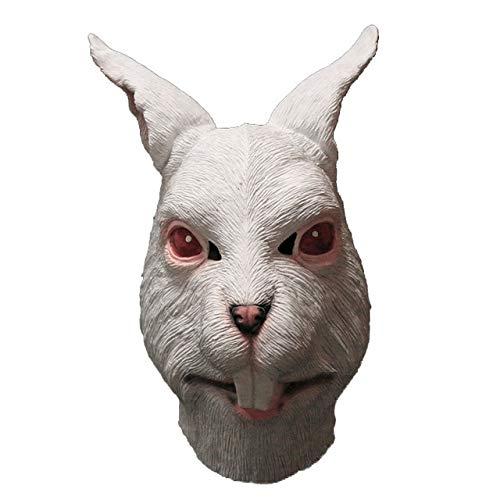 KBWL Tierkopf Maske Realistische Häschen Maske Niedlicher Hase Halloween Kostüm China Rote Augen - Niedliche Häschen Kostüm Für Erwachsene