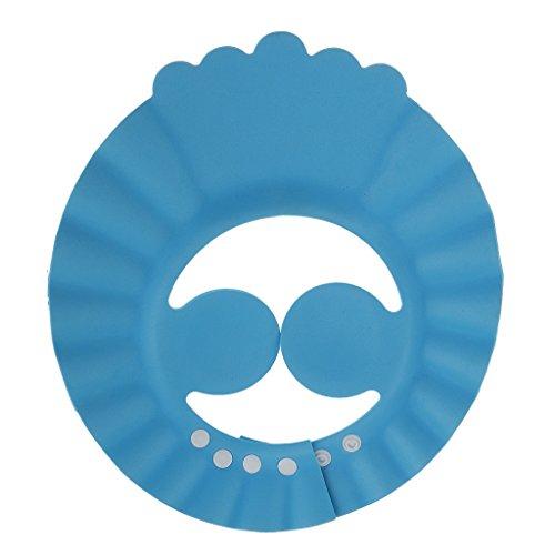 MagiDeal Verstellbarer Badeschirm / Badehaube / Bademütze für Kleinkinder und Babys Badehut
