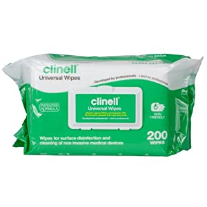 Clinell Multi-Purpose Universal Sanitising Wipes, Pack of 200, NHS Approved from NRS