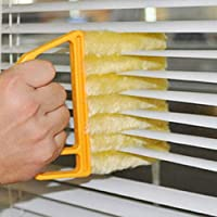 Uteruik Blind Cleaner Brush, Blinds Dust Shutters, Removable Window Air Conditioner Duster With 7 Slat Handheld Household Kitchen Cleaning Tools
