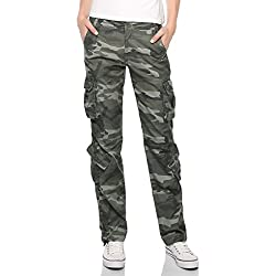 Match - Pantalones para Mujer#2036(Ejército max(641 Army max),ES Medium)