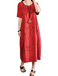 072e5290dc048 P Ammy Fashion Women s Lagenlook Plus Size Vogstyle Maxi Long Dress