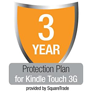 3-Year SquareTrade Warranty + Accident Protection & Theft Cover for Kindle Touch 3G, UK customers only