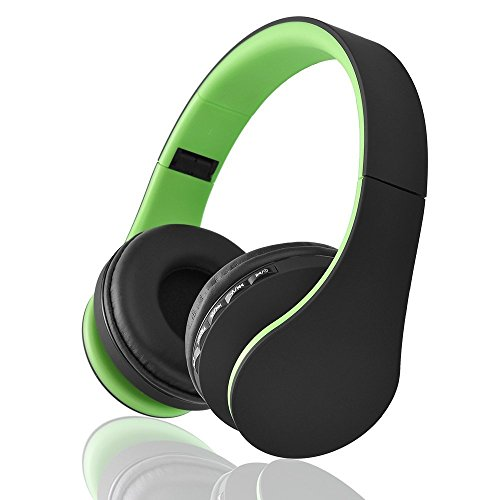 Bluetooth drahtlose Kopfhörer, EONSMN Bluetooth faltbare Kopfhörer mit Micro Support SD / TF Karte für Smart Phones Tablet Notebook (Green)