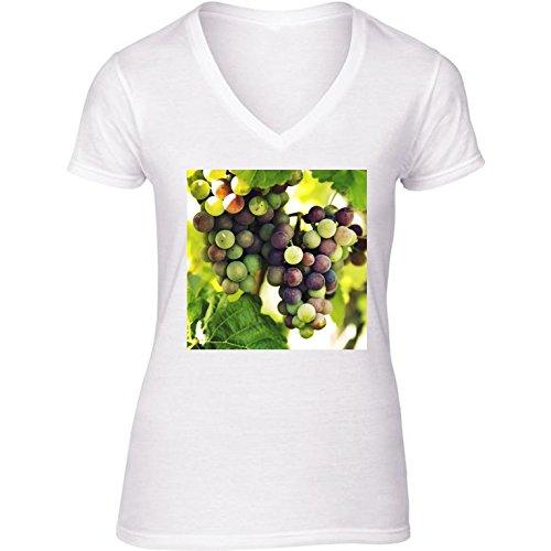 t-shirt-bianco-scollo-a-v-donne-taglia-s-uva-da-vino-autunno-cadere-by-petra