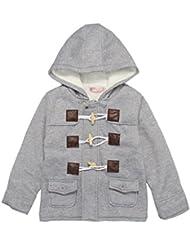 V-SOL Ropa De Abrigo Chaqueta De Terciopelo Grueso Para Niños Bebé Con Capucha Botón De Cuerno (S, Gris)