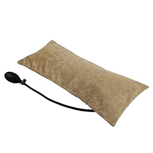 Healifty Aufblasbare kissen Kopfkissen Reisekissen Tragbar für Outdoor Camping Reise Büro Haus Schlaf oder Niedrigere Rückenschmerzen Schmerzlinderung (Licht Kaffee) (Schmerzlinderung Licht)