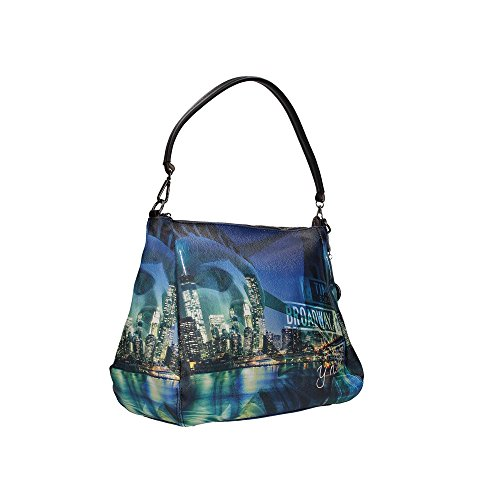 Borsa Shoulder Bag M Black Gun Metal YNY Broadway I 321 BRO Multicolor